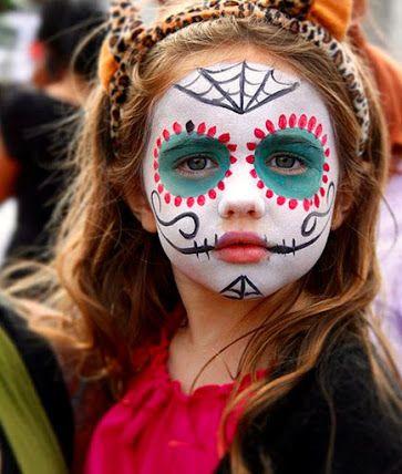 halloween-infantil-niños-maquillaje-pintacaras-disfraz-katrina Day - maquillaje de halloween para nios