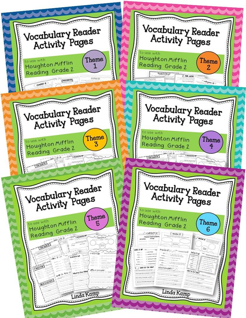 Vocabulary Activity Pages To Use With The Vocabulary Readers For Houghton Mifflin Reading Gra Houghton Mifflin Reading Reading Vocabulary Vocabulary Activities [ 1056 x 816 Pixel ]