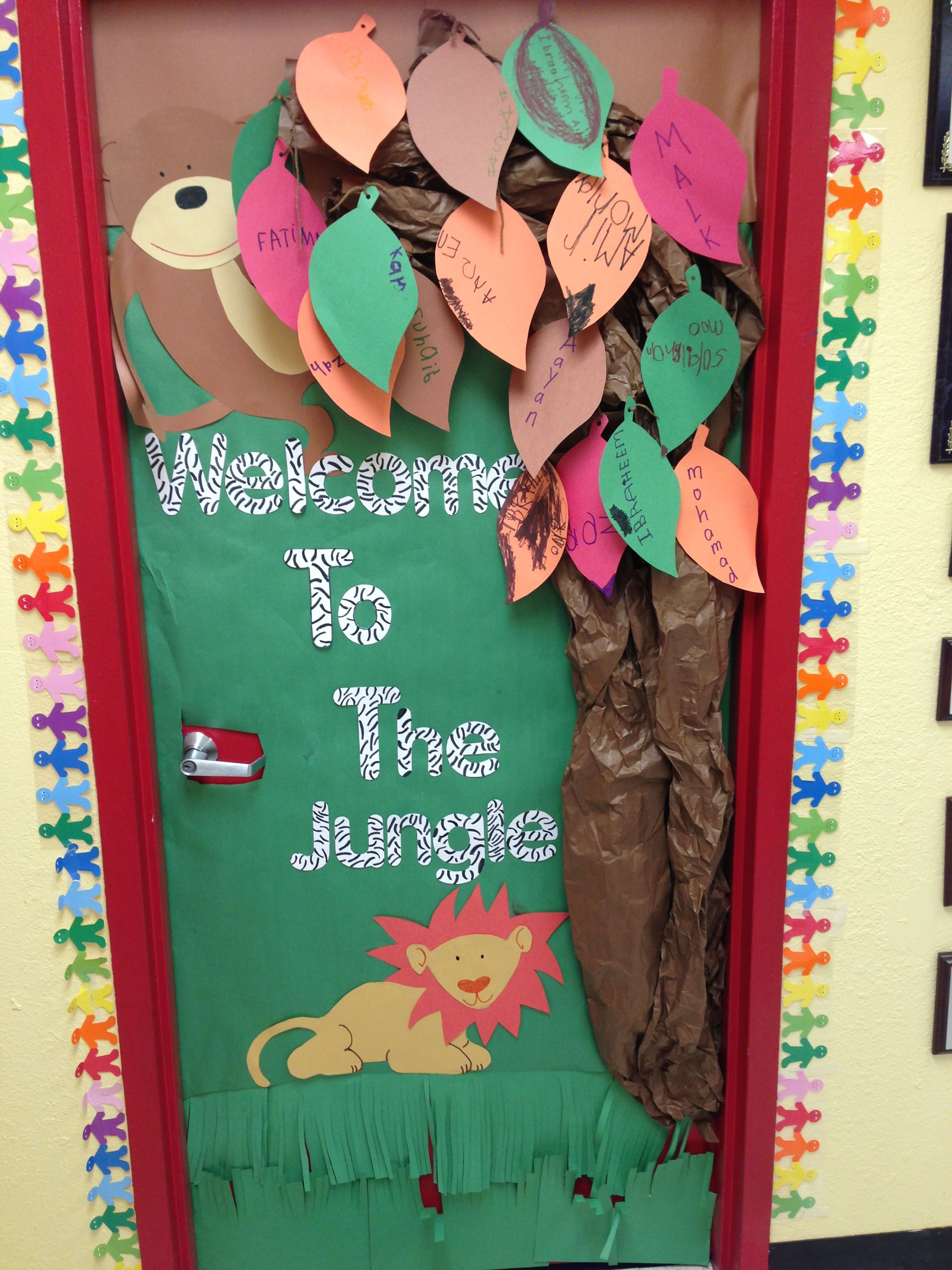 Preschool Jungle Themed Door