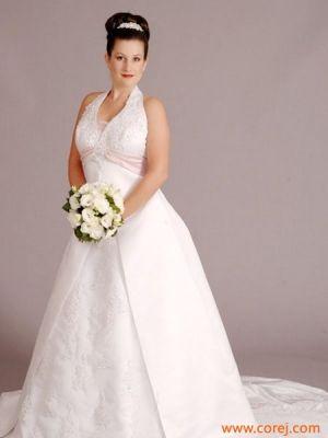 Cheap White Halter Plus Size Wedding Gowns Under 200 Beautiful