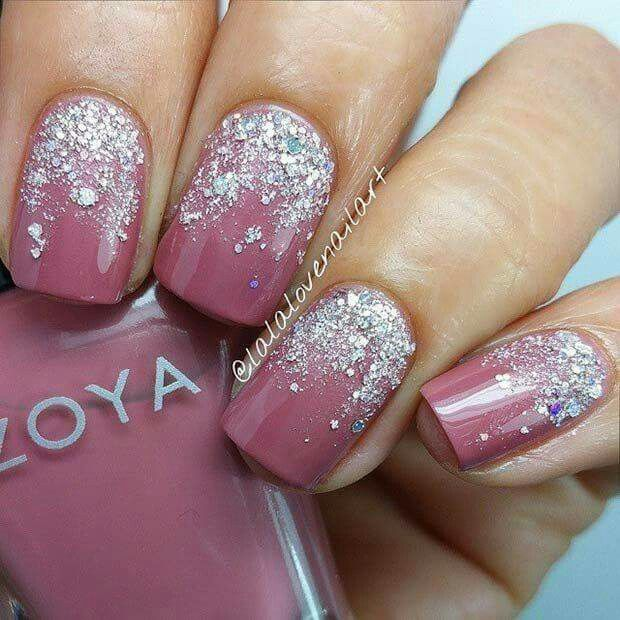 Pedicure pedicure designs pinterest pedicures nail nail and locate a top coat with the chunkiest parts of glitter it is possible to locate and paint it on the ends of your nails shellac nails are very simple to prinsesfo Image collections