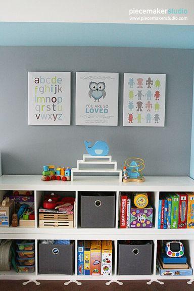 Transitional Toddler Room (Blue/Gray | Recamara, Para niños y Cuarto ...
