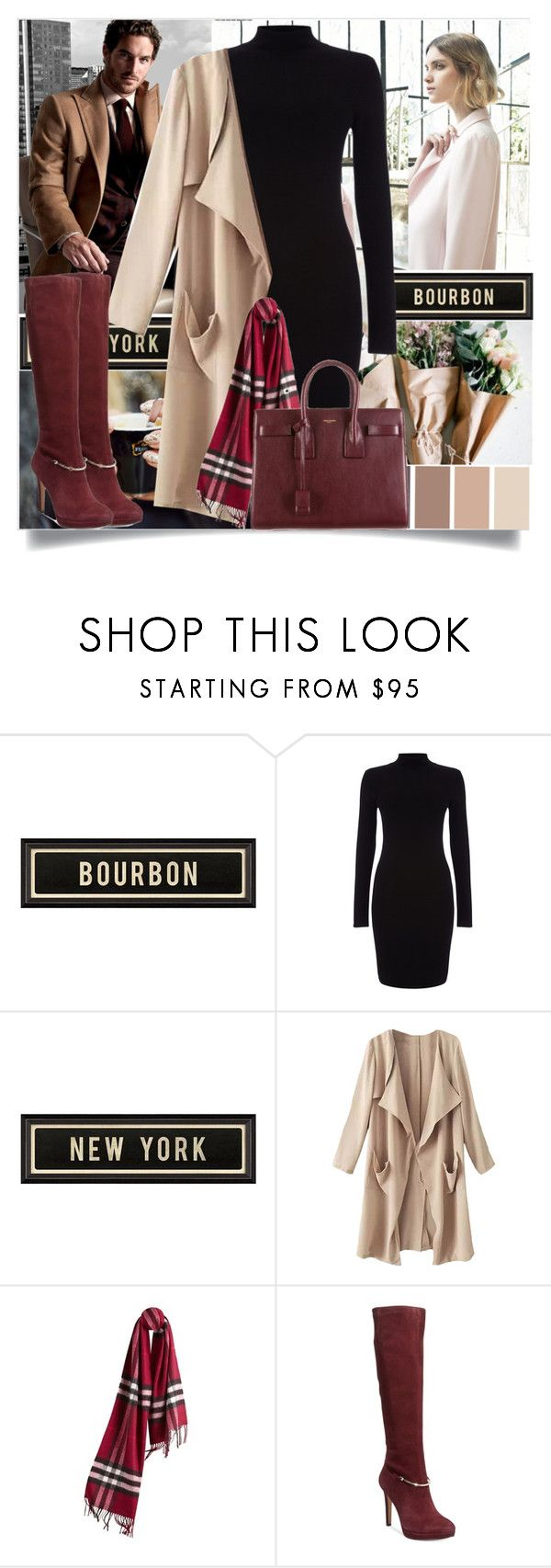 """""""Old Ways"""" by sharoosanguinetti ❤ liked on Polyvore featuring Nuevo, Hickey Freeman, Spicher and Company, Phase Eight, Burberry, Nine West and Yves Saint Laurent"""