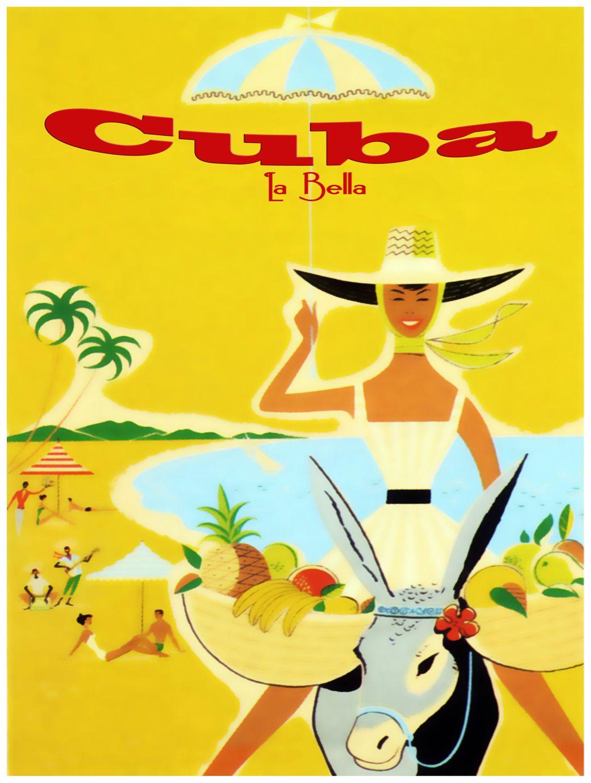 831.Cuba la Bella wall Art Decoration POSTER.Graphics to decorate ...