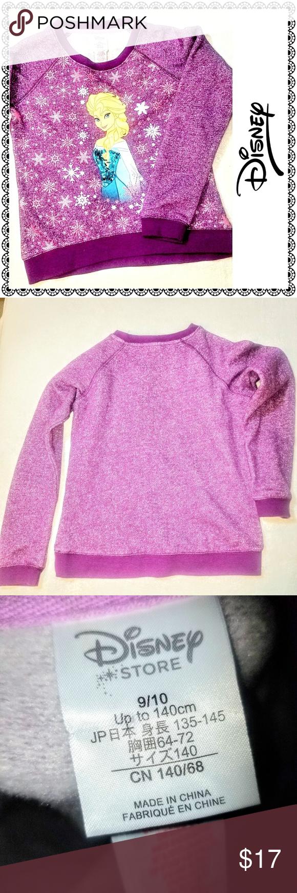 Disney Store Frozen Elsa Sweatshirt Girls 9 10 Disney Store Purple Frozen Elsa Sweatshirt Embelli Girls Disney Shirts Elsa Sweatshirt Girl Sweatshirts [ 1740 x 580 Pixel ]
