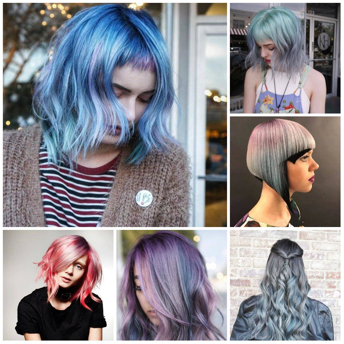 multi-colored hairstyles for 2018 | colorful dreams in 2018