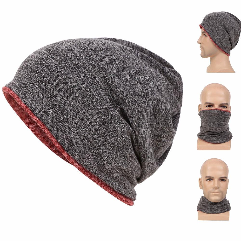 Baggy Beanie Hat Winter Knitted Skull Cap Warm Mask Fashion Hats Men Women Casual Hat