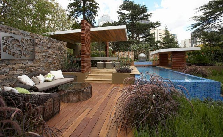Aménagement jardin paysager moderne avec coin de détente en 80 idées ...