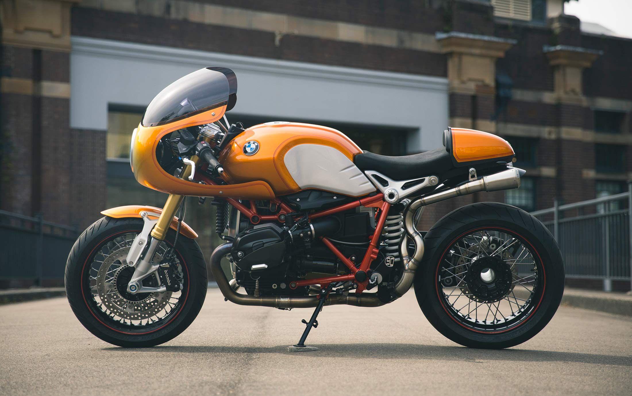 bike biz bmw rninet cafe racer r90 bmw motorrad orange. Black Bedroom Furniture Sets. Home Design Ideas