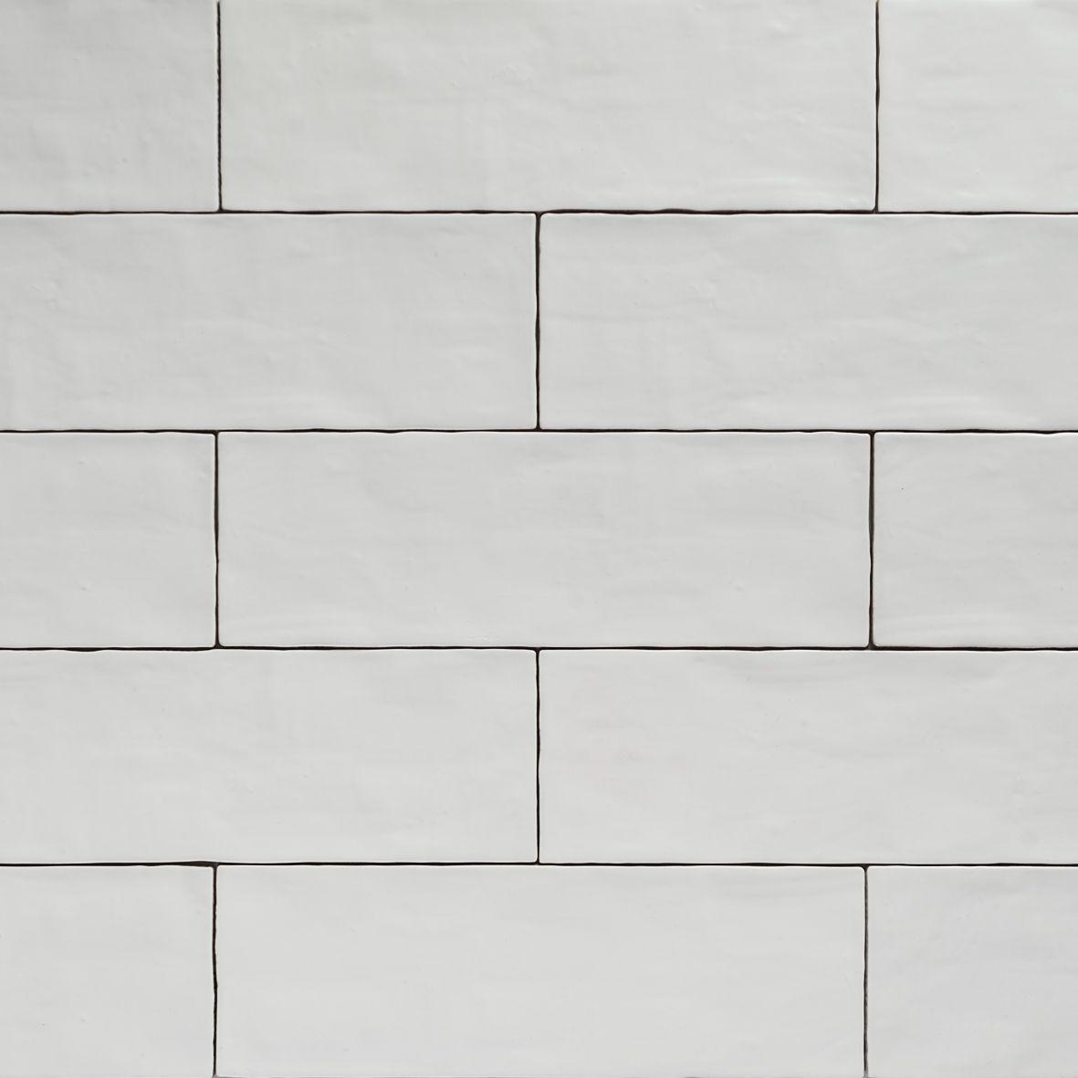 Handmade White Matt Natura Wall Subway Tiles 396 130 In Stretcher Bond Design Subway Tile Handmade Subway Tile White Subway Tiles