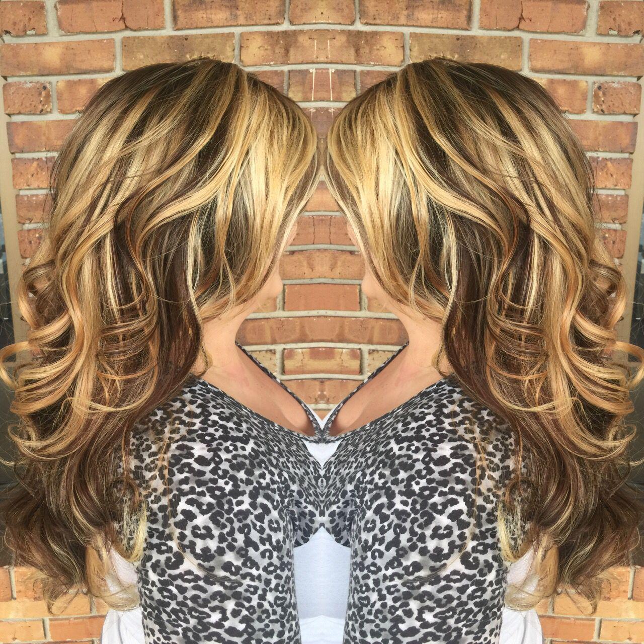 Blonde and brown balayage