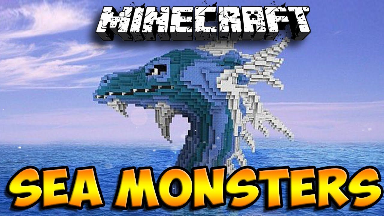 Minecraft Mods: Sea Monsters - Sea Serpents, Swordfish