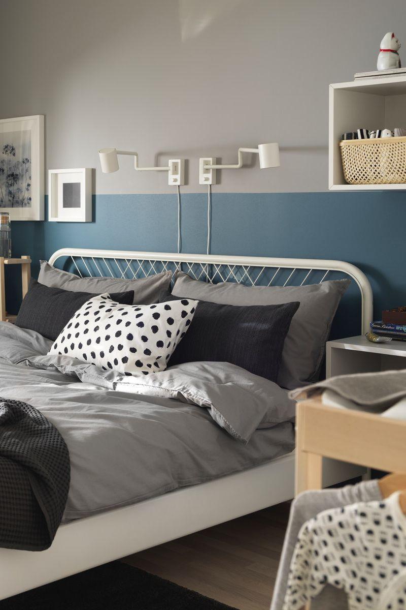 Nesttun Bettgestell Weiss Luroy Ikea Deutschland Bett Metall Bettgestell Haus Deko