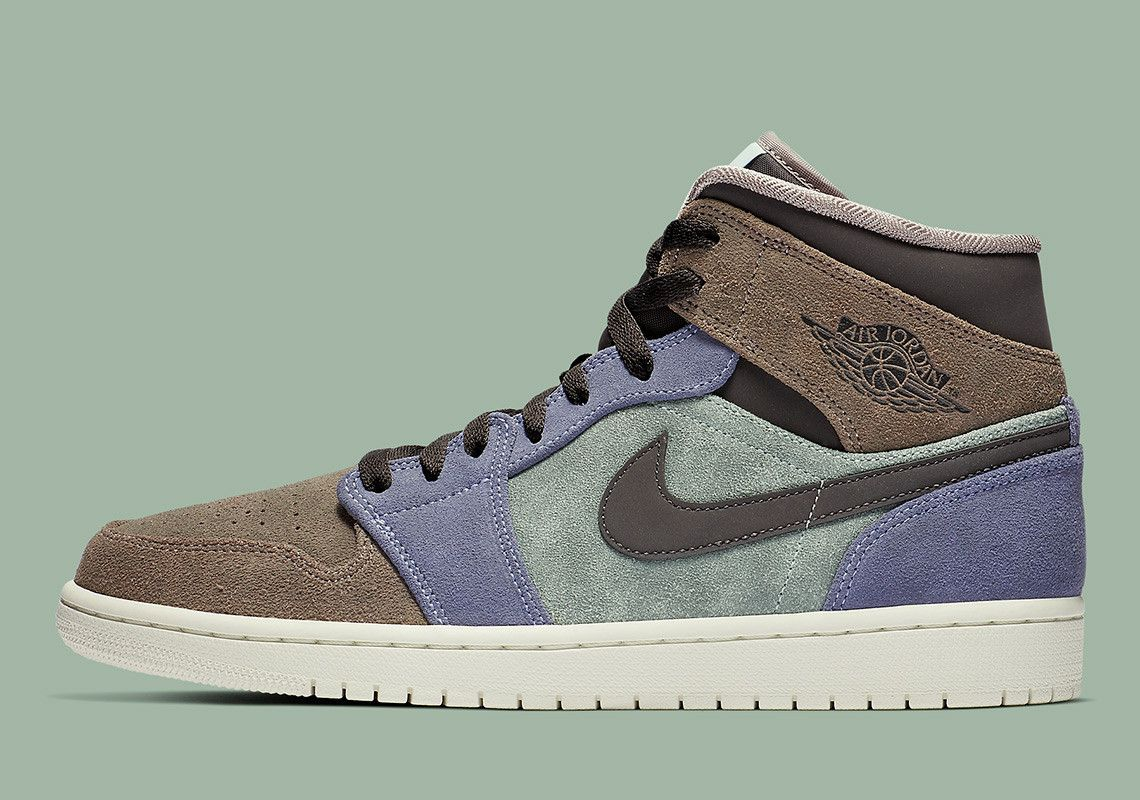 Suede Uppers Give This Air Jordan 1 Mid The Aleali May Vibes Air