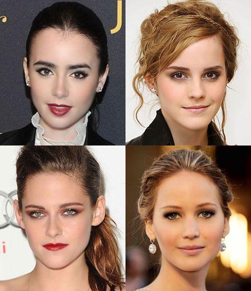 Emma Watson Jennifer Lawrence Kristen Stewart Lily Collins Emma Watson Lily Collins Kristen Stewart