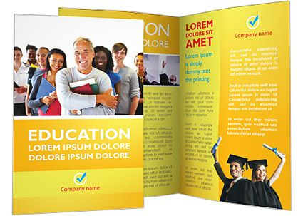 Happy Students Brochure Template Design Pinterest Brochure