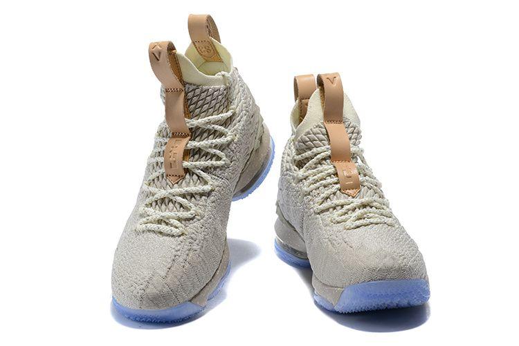 5a56593329e New Nike LeBron 15 Ghost String Sail-Vachetta Tan Mens Basketball Shoes  2018 Wholesale