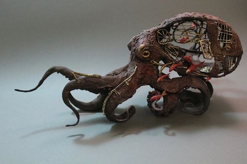 Hybrid creature sculptures by Ellen Jewett: