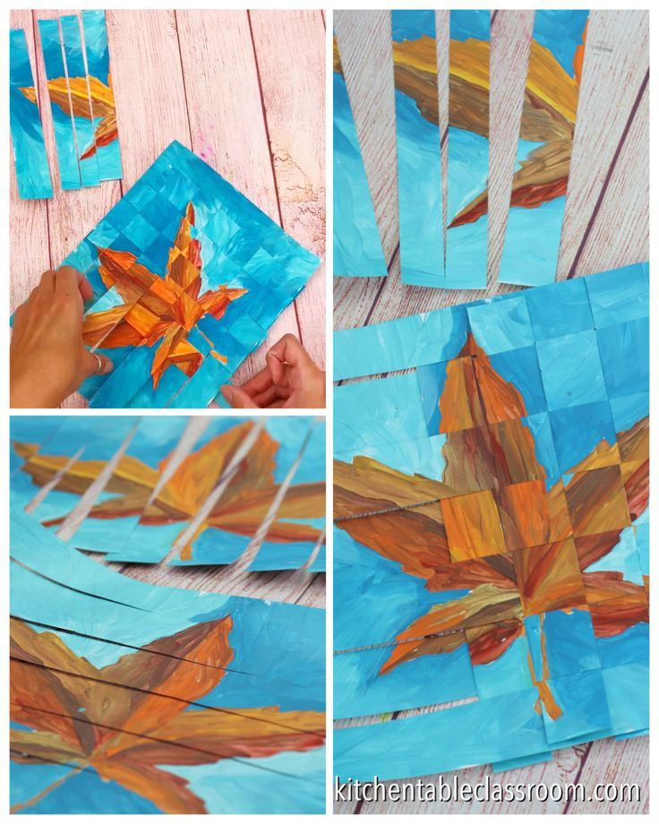 Weaving Paper - Joining Two Paintings - The Kitchen Table Classroom #weaving