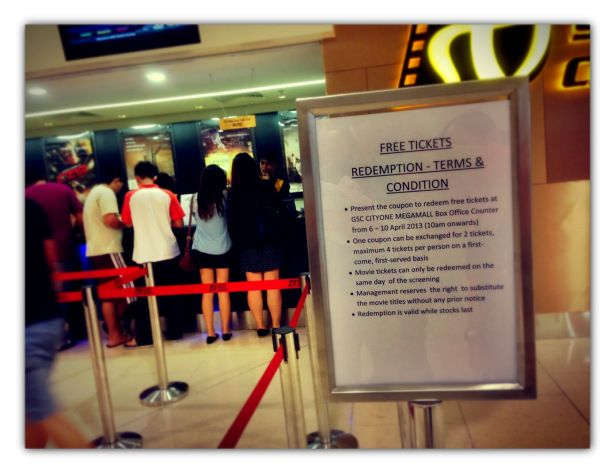 Gsc Cityone Megamall Opens And Why Do You Care Free Ticket Free Movie Tickets Movie Tickets