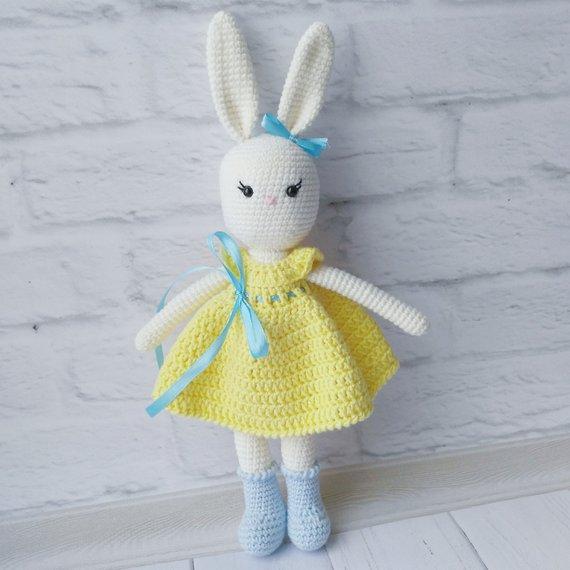 Crochet bunny amigurumi bunny hand knitted rabbit handmade toys Stuffed bunny soft toy amigurumi toys for children baby bunny soft bunny #handmadetoys