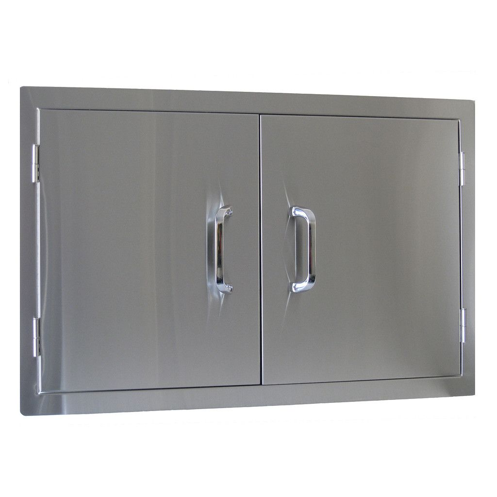 Beefeater Stainless Steel Build In Outdoor Kitchen Double Door Outdoor Kitchen Design Kitchen Doors Outdoor Bbq Kitchen