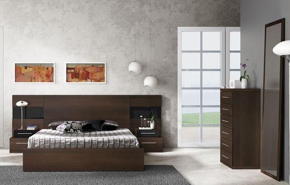 Dormitorio de mueble color wengué | Madeira | Pinterest | Dormitorio ...