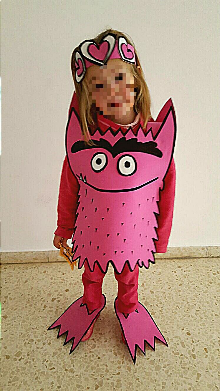 disfraz monstruo colores goma eva amor | agustina | Pinterest | Goma ...