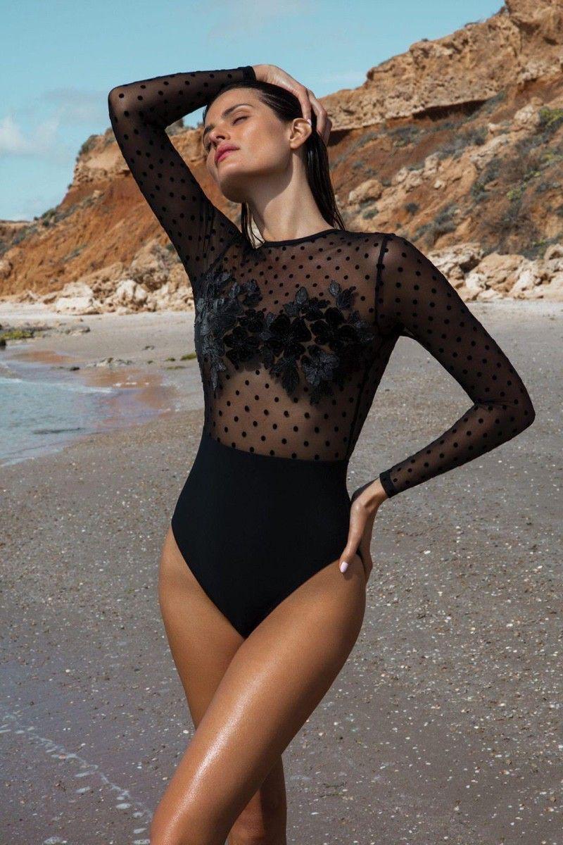 Isabeli Fontana Poses in Gottex Swimwear One-Piece Beauties 2020 Campaign | Gottex swimwear. Gottex. Swimwear