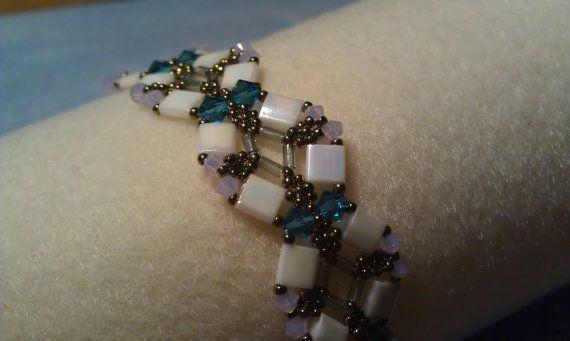 Tila bead & Swarovski crystal