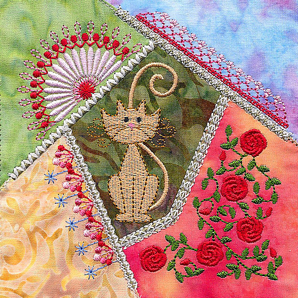 Crazy gorgeous patchwork embroidery designs