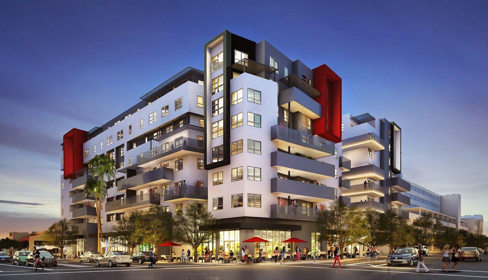 New Six Story Culver City Palms Mixed Use Nnn Triple Net Santa Monica Apartment Culver City Mix Use Building