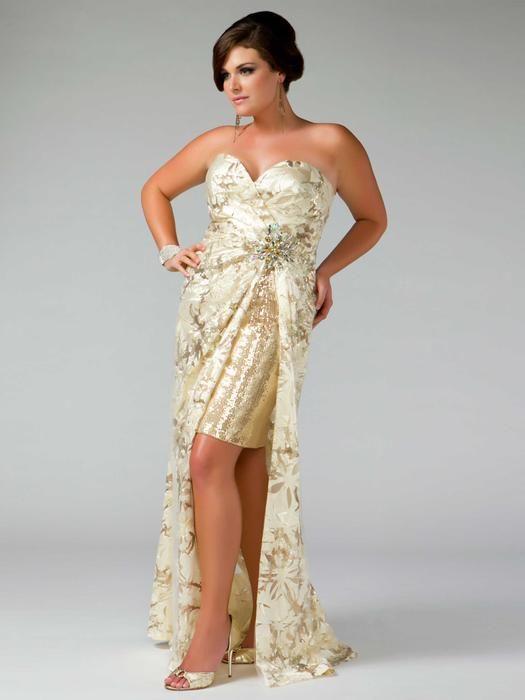 Gold Plus Size High Low Prom Dresses 2014plus Size Dressesdressesss