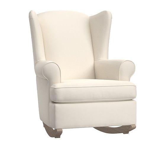 Wingback Convertible Rocking Chair Amp Ottoman Rocking