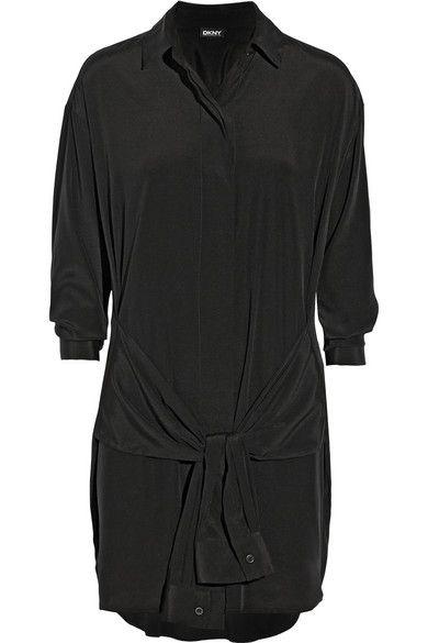 { silk shirt dress }