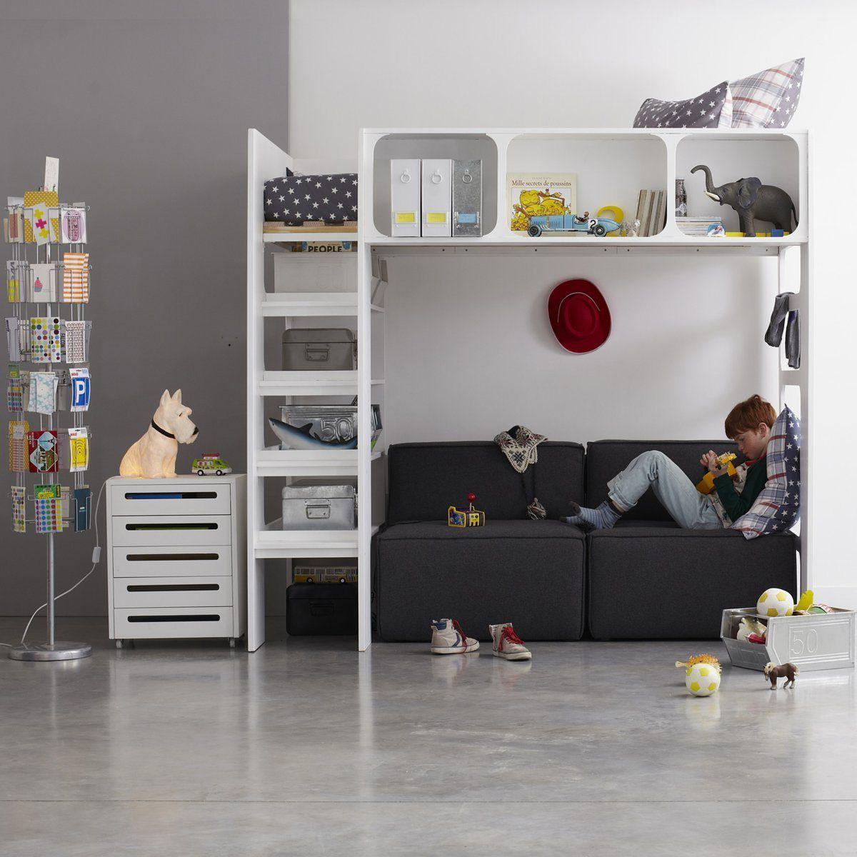 Loft bed railing ideas  Lit mezzanine Duplex AmPm  Baby Rooms  Pinterest  Lit mezzanine