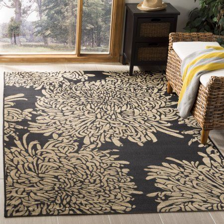 Safavieh Martha Stewart Chrysanthemum Outdoor Floral Area Rug Walmart Com Beige Area Rugs Area Rug Sizes Durable Rugs