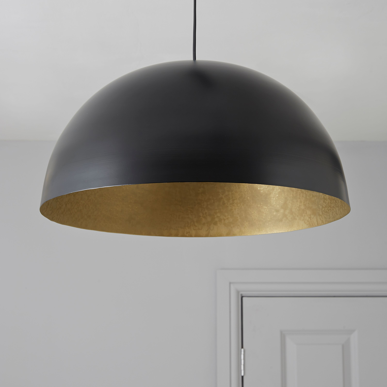 Kapsel Dome Black Pendant Ceiling Light