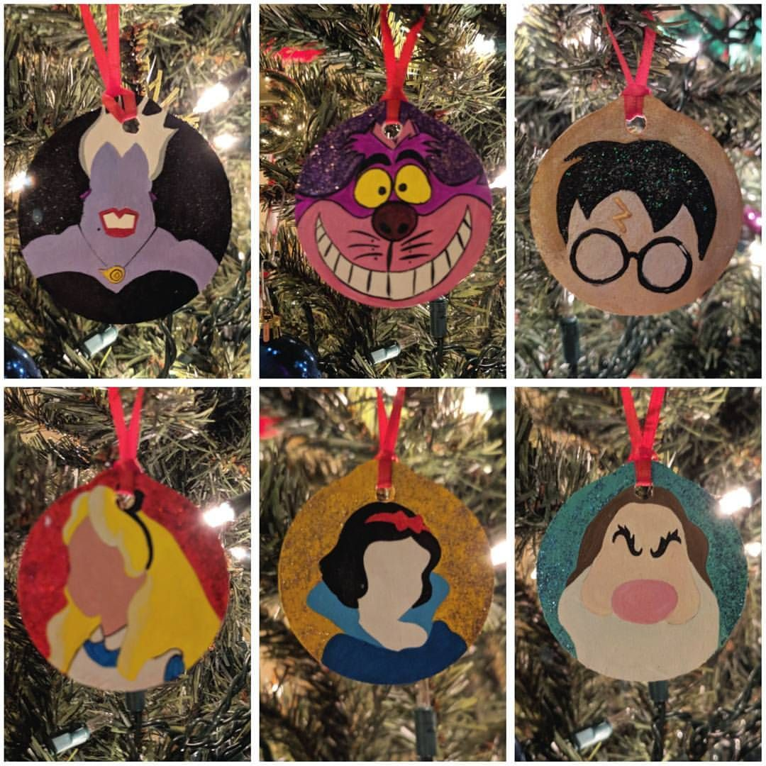 Pin By Kelsey Irvin On Crafty Broad In 2020 Hand Painted Ornaments Disney Crafts Disney Art
