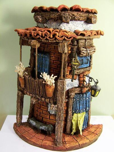 Pin de sardinha bello en crafts pinterest casitas - Casitas en macetas ...
