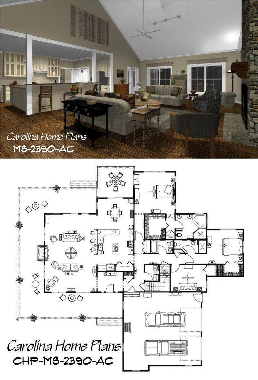 Open Floor Plan With Bonus Room Above Garage Country Style House Plans Country Floor Plans House Plans