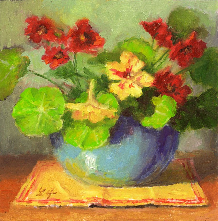 Nasturtium Art Painting Flower