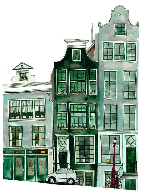 Red House Drawing: 1000drawings: By Anisa Makhoul (с изображениями