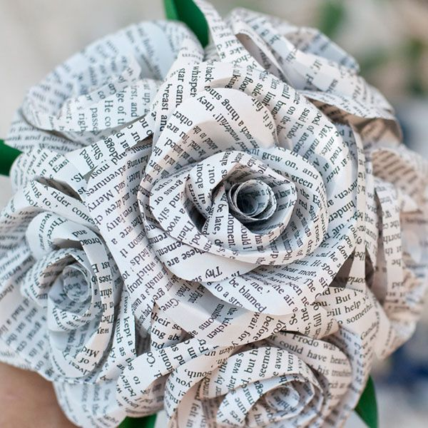 10 Non-Floral Bouquets for Winter Weddings | Books, Weddings and Wedding