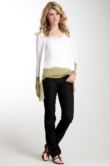Katie Studded Pocket Straight Leg Jean by Miraclebody Jeans on @HauteLook