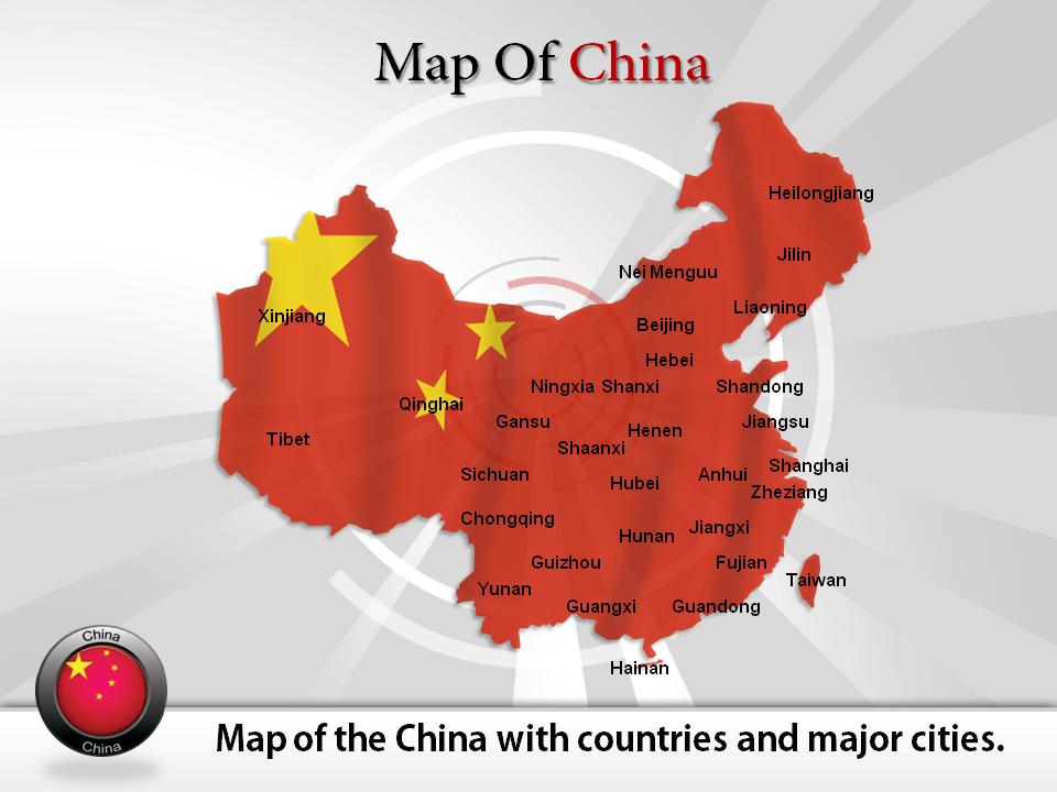 Powerpoint Map Of China Map Of China Pinterest China Map