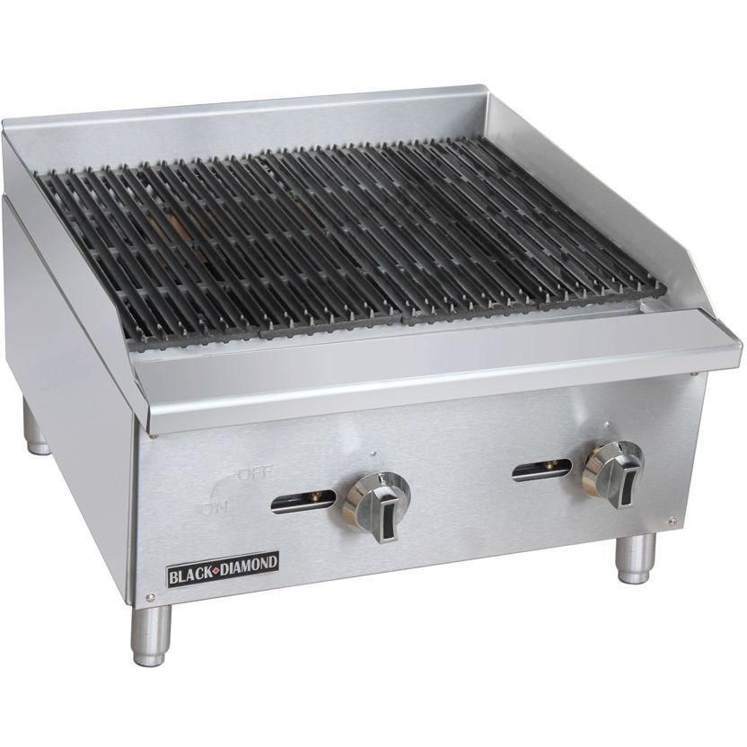 Commercial Kitchen Stainless Steel Char Broiler 24 60 000 Btu