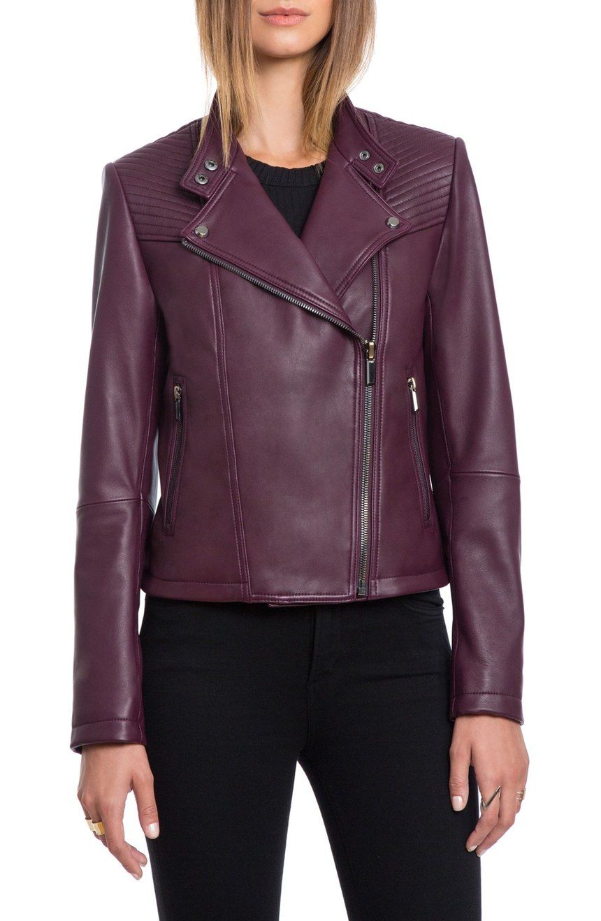 Bagatelle Quilted Lambskin Leather Moto Jacket Nordstrom