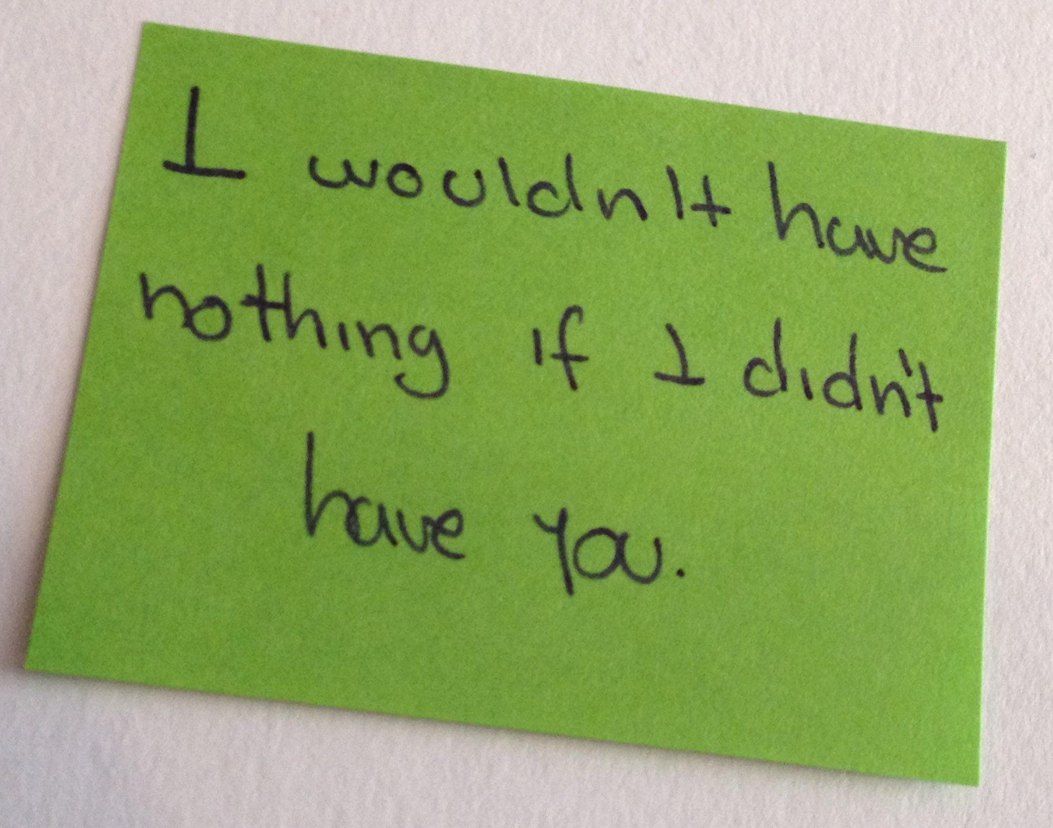 Si no te tuviera...