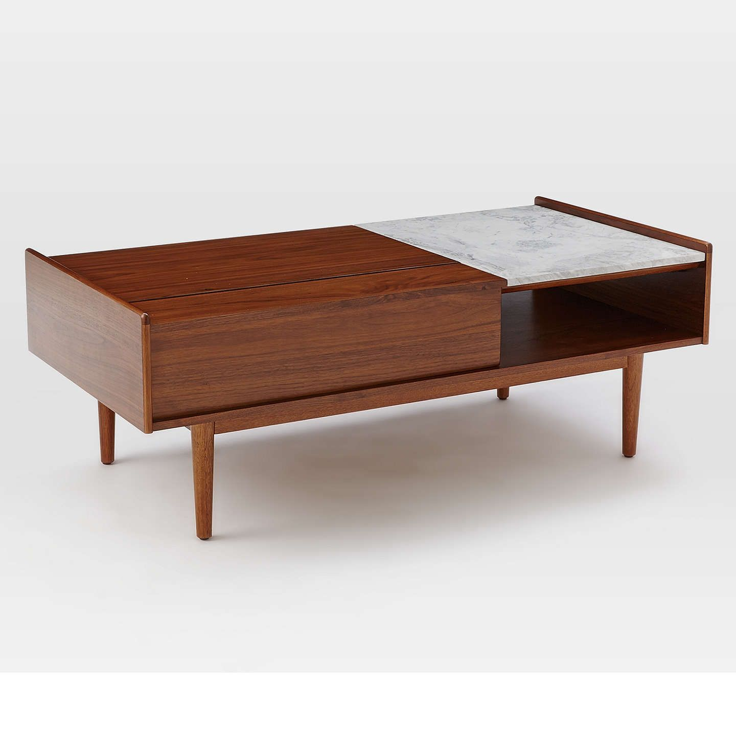 West elm midcentury popup storage coffee table new home